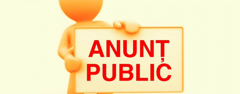 Anunț public privind emiterea deciziei de încadrare
